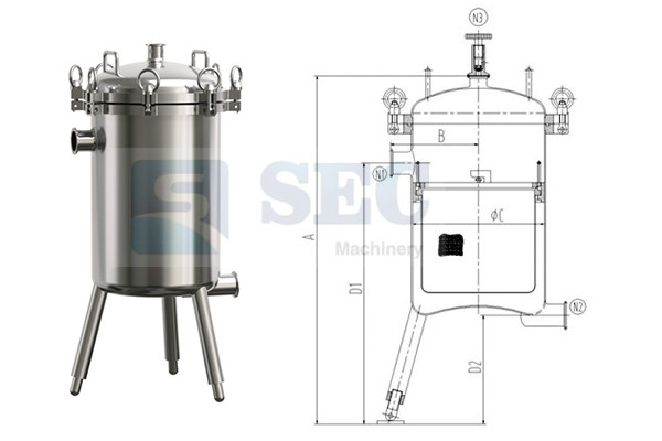Stainless Steel Basket Type Filter Housing
