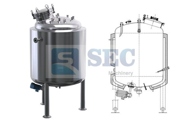 Stainless Steel Magnetic Agitator Mixing Tank - www