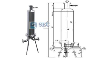 Stainless Steel Single Cartridge Filter Housing 300x200 - Stainless Steel Single Cartridge Filter Housing