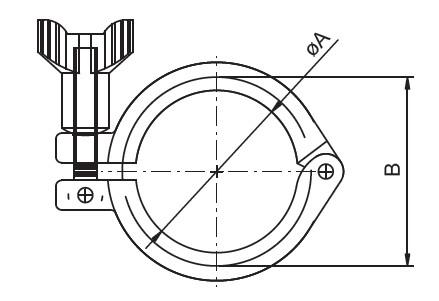 heavy duty single pin clamp - Sanitary Clamps