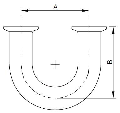 wellgreen bpe fitting clamp 180 return bend - Sanitary BPE Clamp Fittings